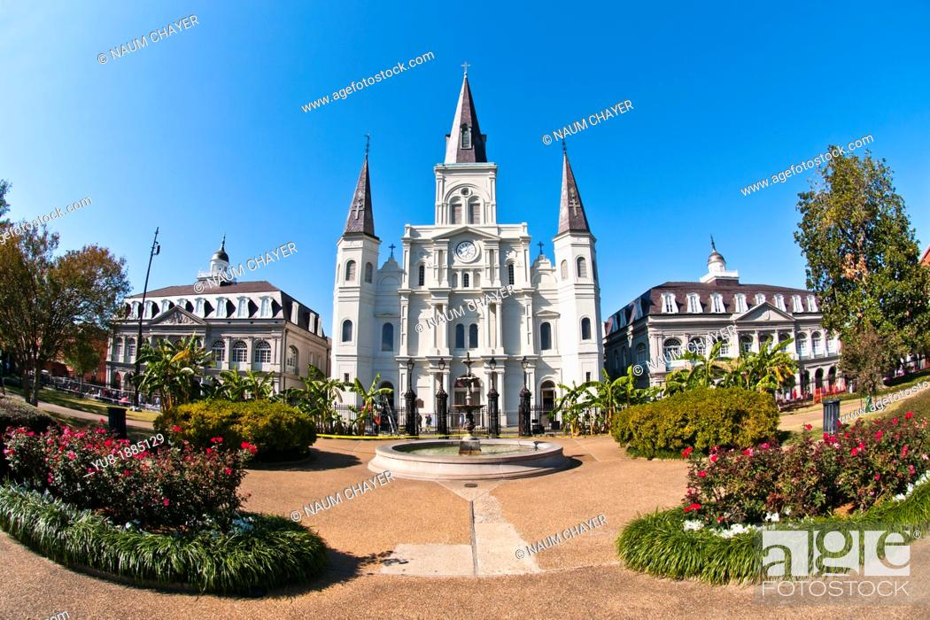 Stock Photo: St  Louis Cathedral, New Orleans, state of Louisiana, USA, North America,.