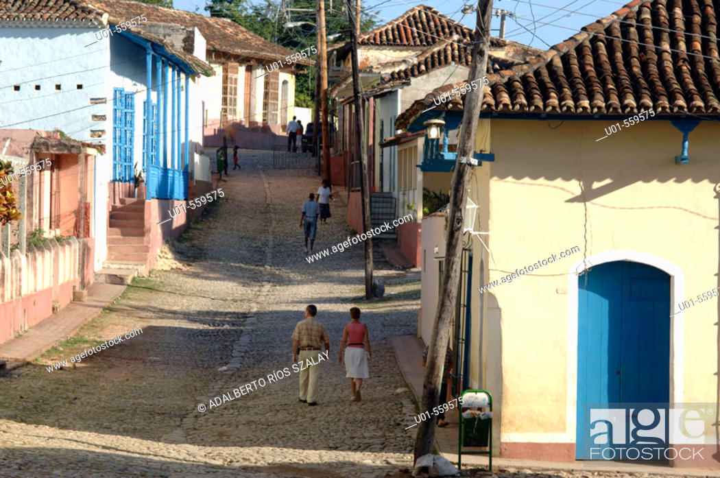 Stock Photo: Trinidad, town founded in 1514 by Diego Velázquez de Cuéllar, Cuba.