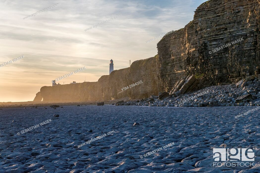 Stock Photo: Nash Point, Monknash Coast of the Vale of Glamorgan, Wales, United Kingdom, Europe.