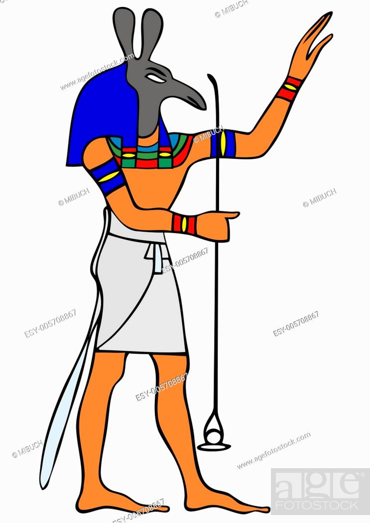 Vector: God of Ancient Egypt - Seth - vector.