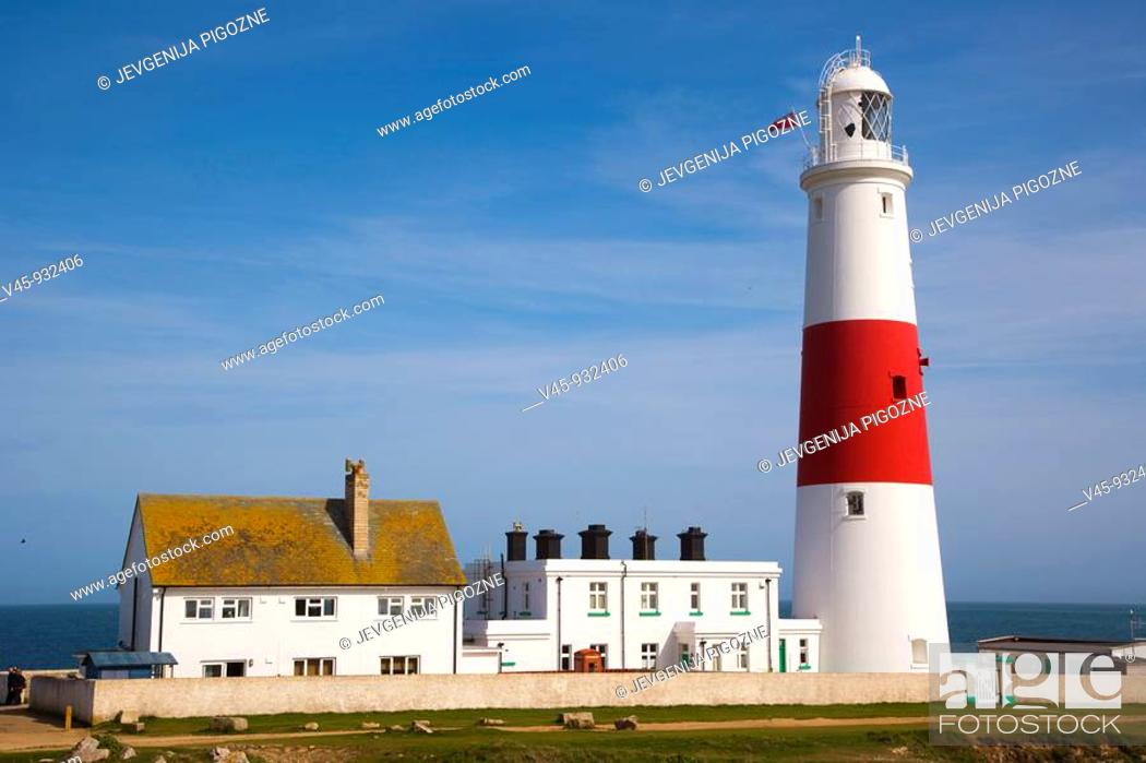 Stock Photo: Portland Bill Lighthouse. Isle of Portland. Dorset. England. UK.