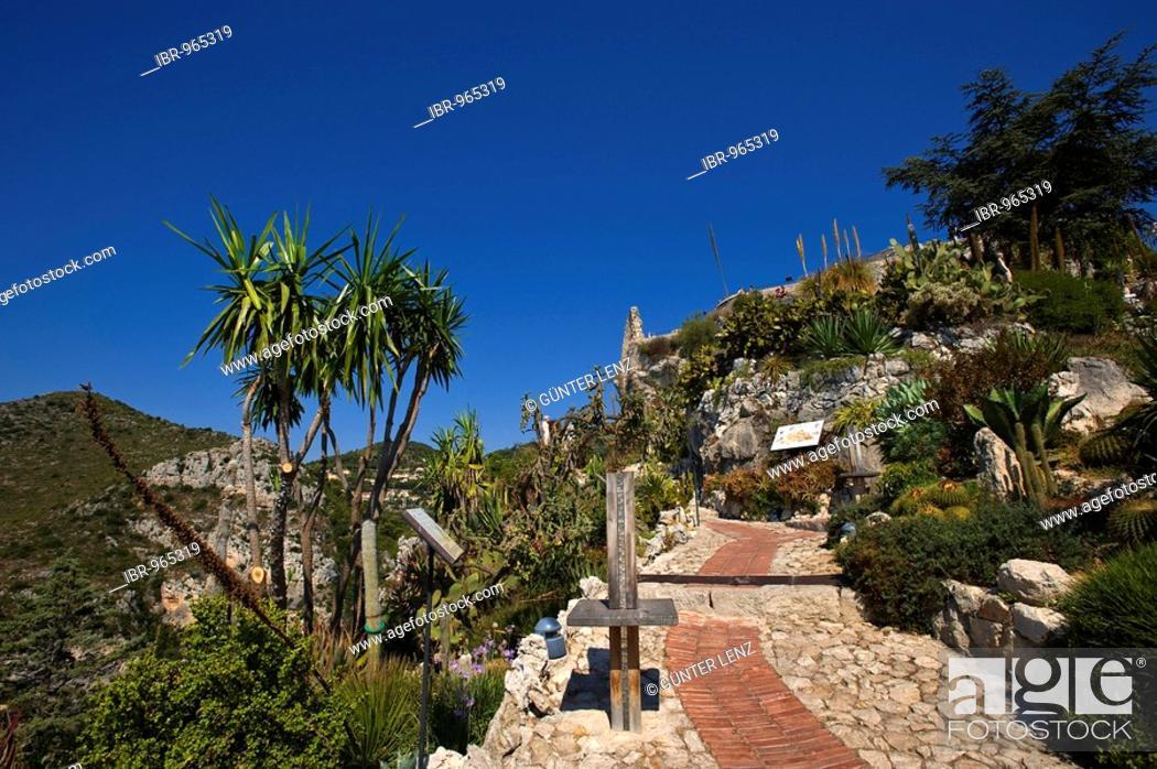 Eze Jardin Exotique Village Provence Cotes Des Alpes D Azur