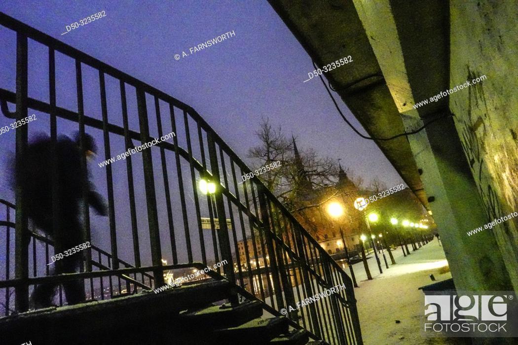 Imagen: Stockholm, Sweden A staircase on Gamla Stan.
