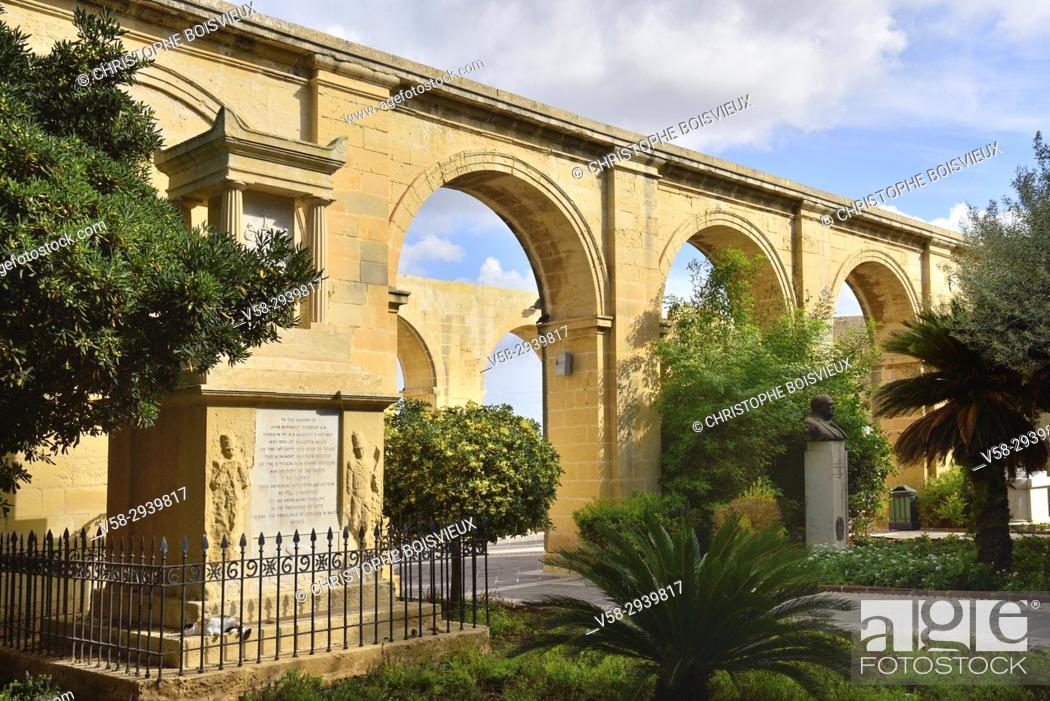 Imagen: Malta, World Heritage Site, Valletta, Upper Barrakka gardens.