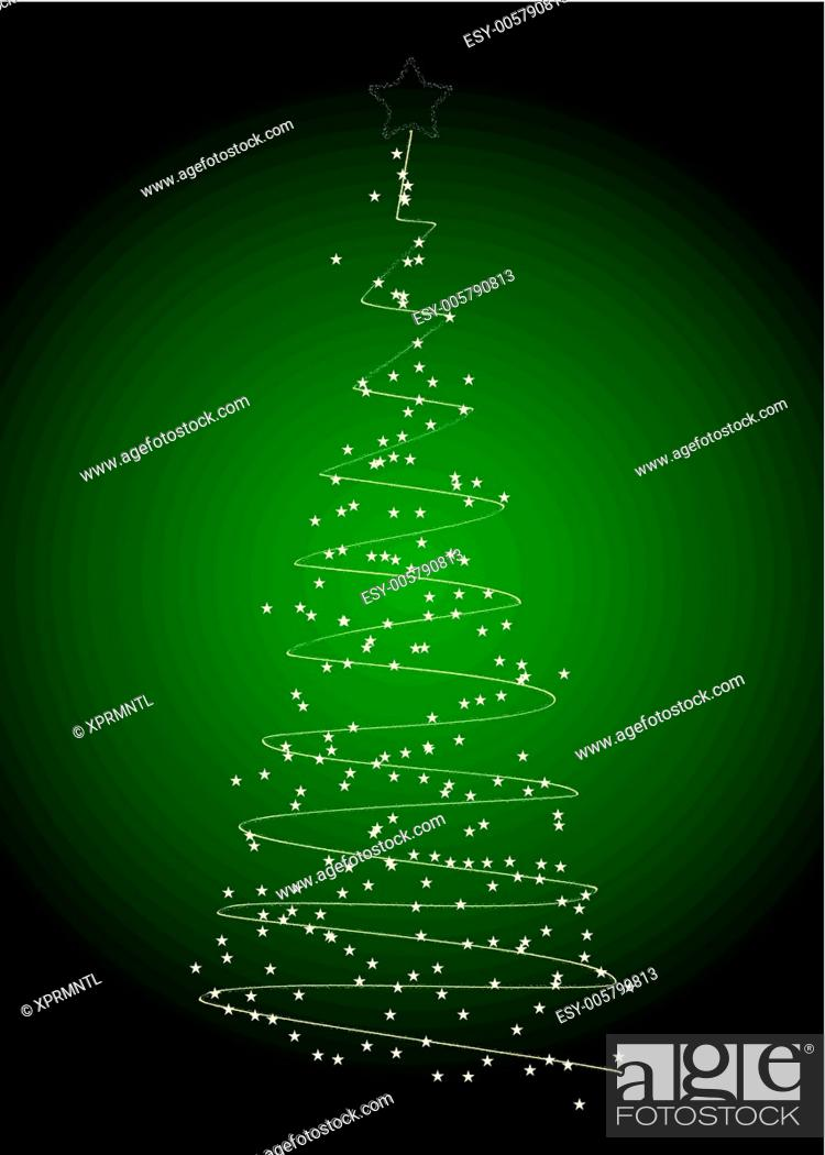 Stock Vector: Christmas tree with snowflakes.