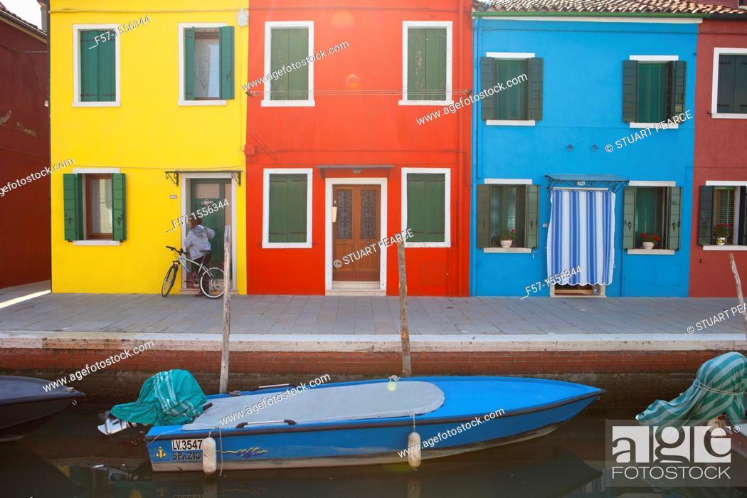 Stock Photo: Burano Island near Venice, Italy.