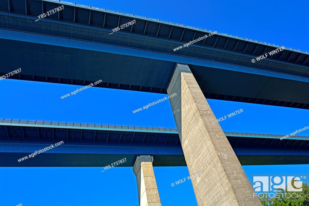 Stock Photo: Bridge over the Kiel Canal, Kiel, Schleswig-Holstein, Germany.