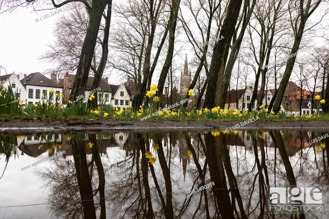 Imagen: The Beguinage. Bruges. Belgium.