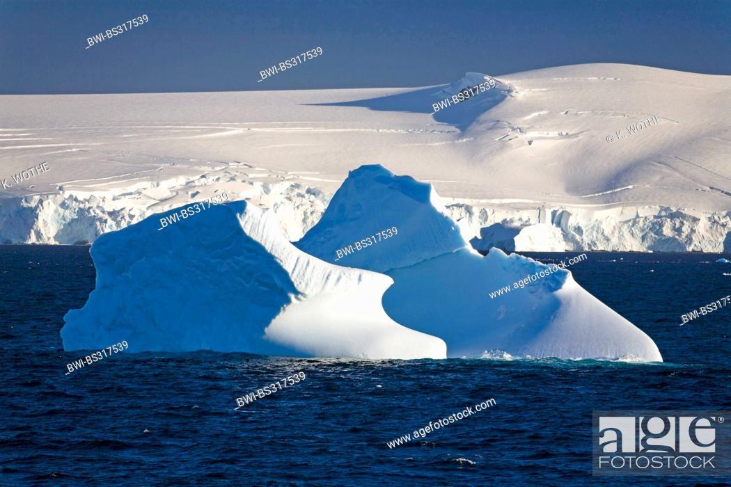 Imagen: icebergs in front of Antarctic Peninsula, Antarctica.