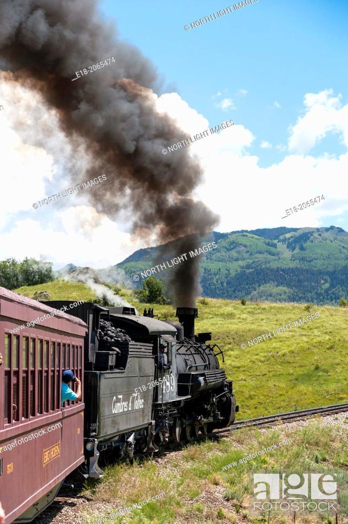 Imagen: USA, New Mexico, Chama. The Cumbres and Toltec Scenic Railroad.