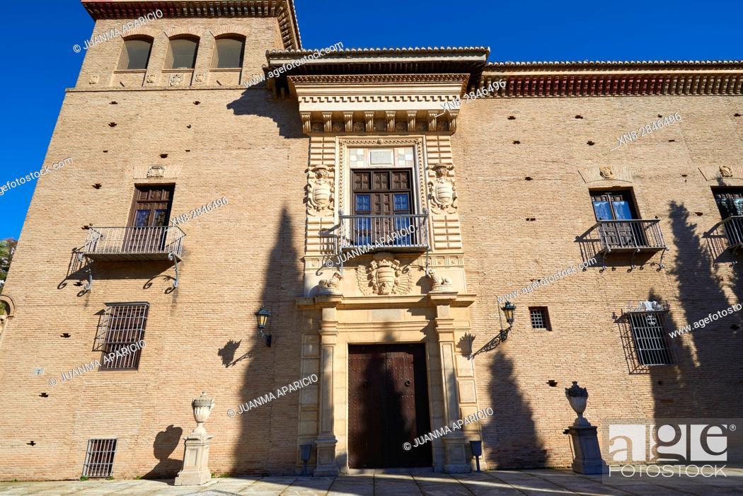 Stock Photo: Palacio de los Córdova (Historical Archive), Granada, Andalusia, Spain, Europe.