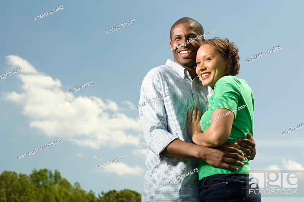 Stock Photo: Couple outdoors.