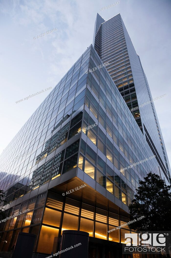 Stock Photo: The Goldman Sachs global headquarters in New York City at 200 West St. Designed by Henry Cobb of Pei Cobb Freed & Partners.