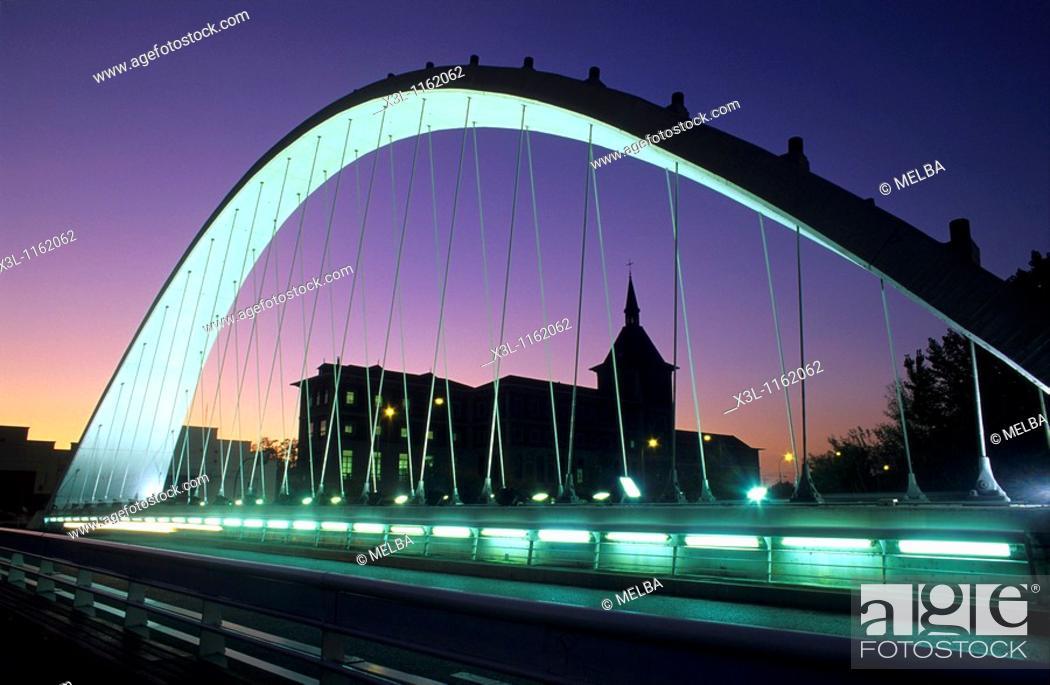 Stock Photo: Oblatas Bridge Pamplona Navarre Spain.