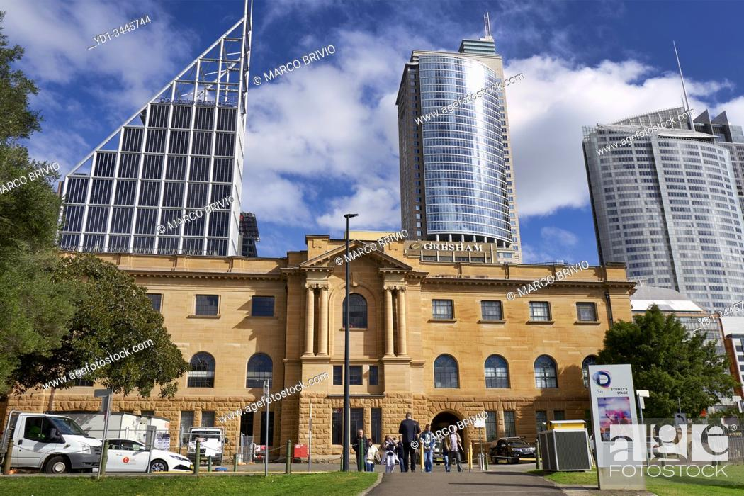 Stock Photo: Sydney Australia. Mitchell Wing of the State Library of New South Wales, .