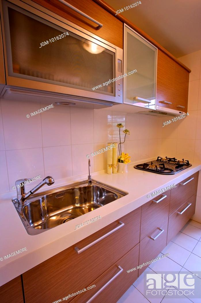 Stock Photo: Modern Interior Design - Domestic Kitchen.