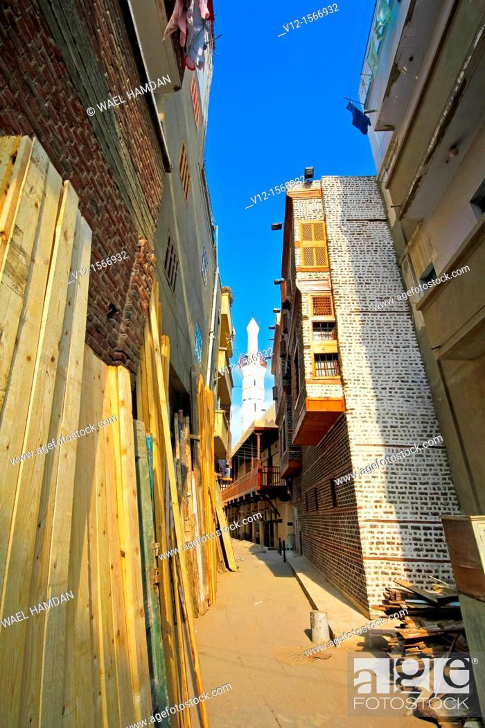 Stock Photo: streets of Rosetta city, Egypt.