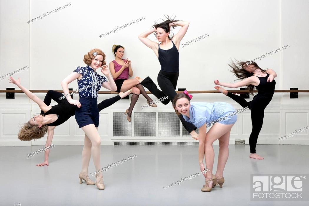 Stock Photo: Posing female dancers.