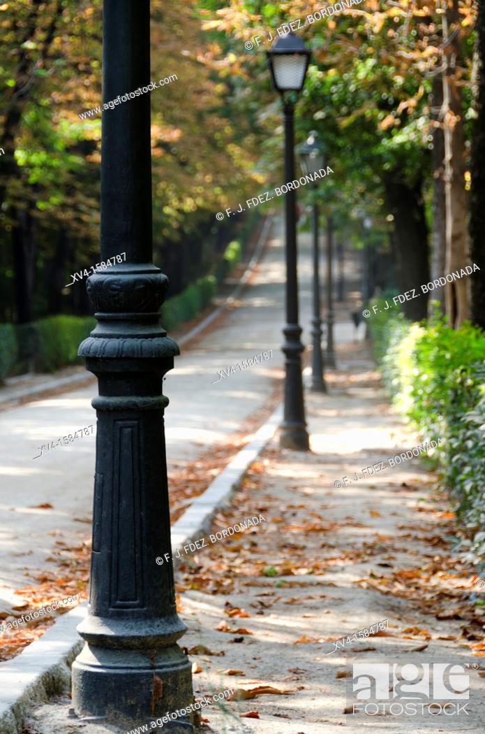 Stock Photo: Retiro Park in autumn, Madrid, Spain.