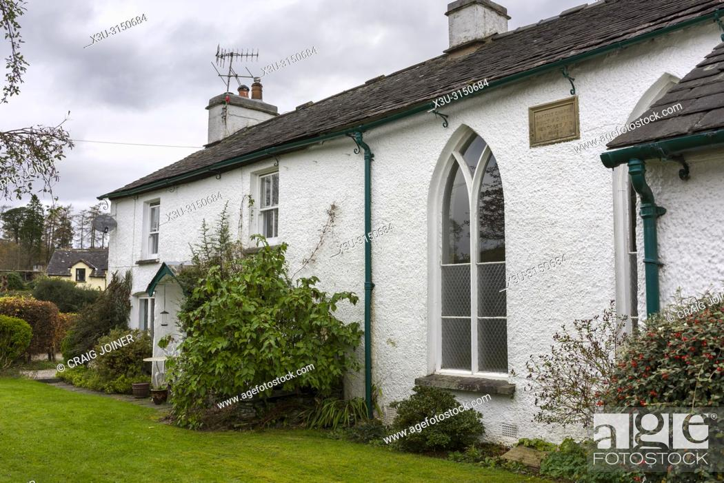 Stock Photo: Hawkshead Hill Baptist Chapel in the Lake District National Park, Cumbria, England.