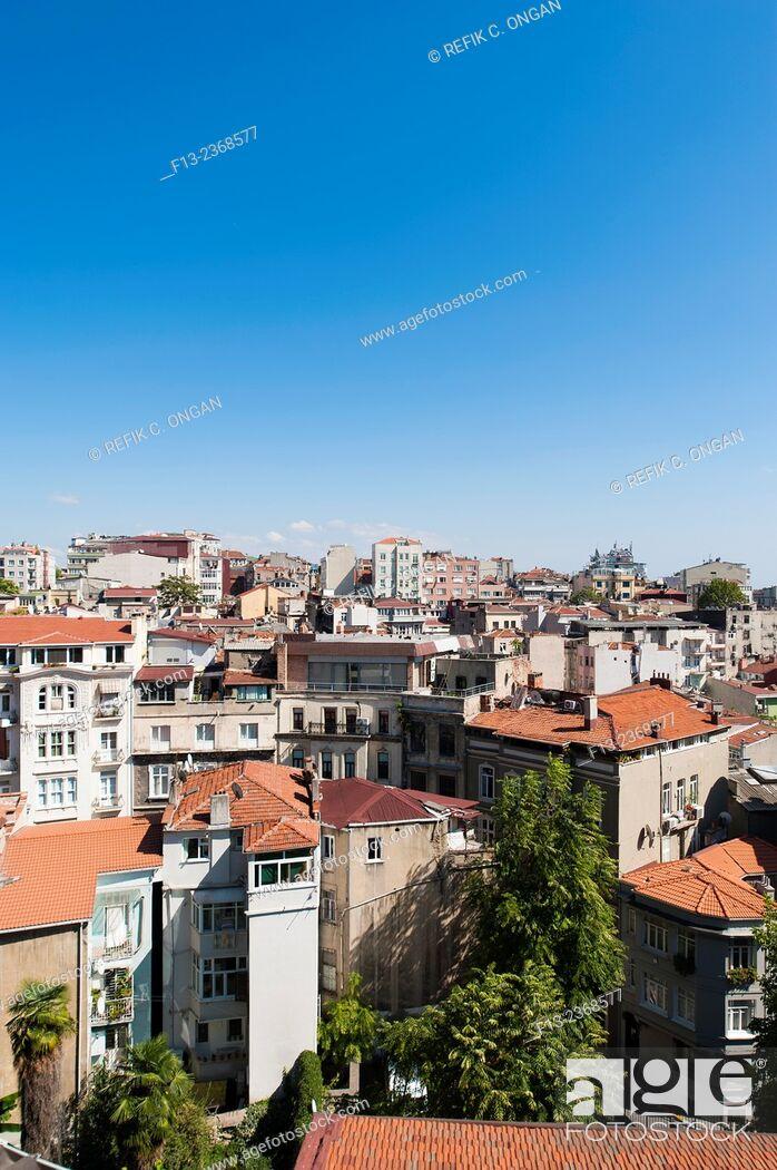 Stock Photo: Buildings in Istanbul European side.