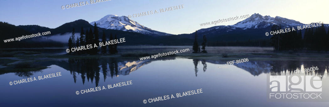 Stock Photo: Sparks Lake Deschutes National Forest OR.