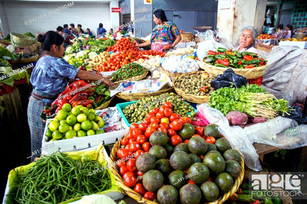 Stock Photo: The market . Antigua, ancient capital. Guatemala.