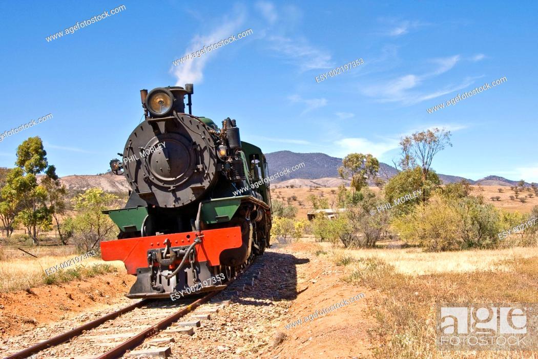 Stock Photo: old steam train.