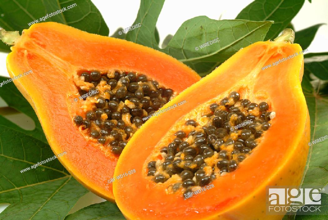 Stock Photo: Food, fruit, papaya.
