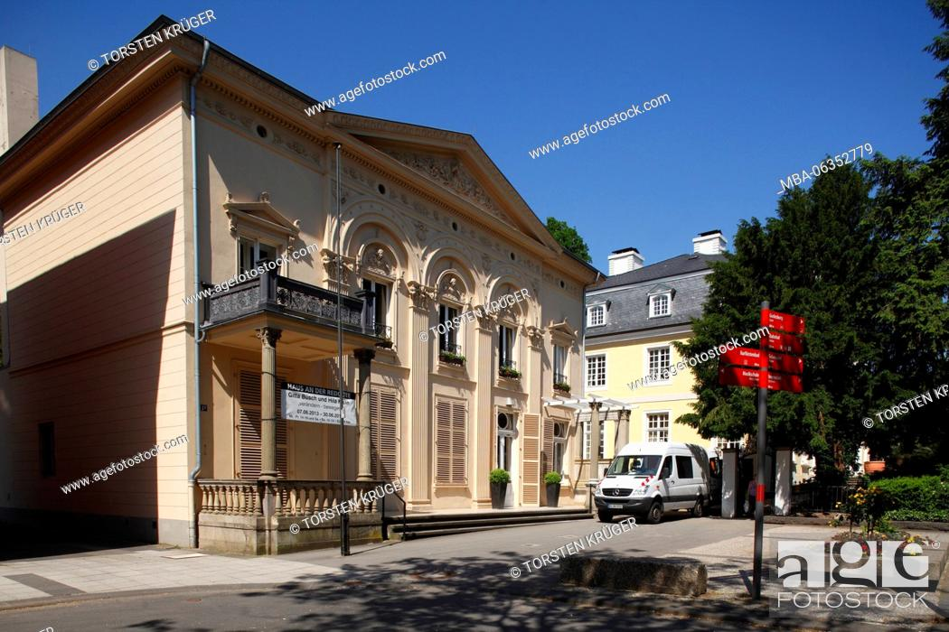Stock Photo: House in the redoubt, classicism palace, Bonn Bad Godesberg, Bonn, North Rhine-Westphalia, Germany, Europe.
