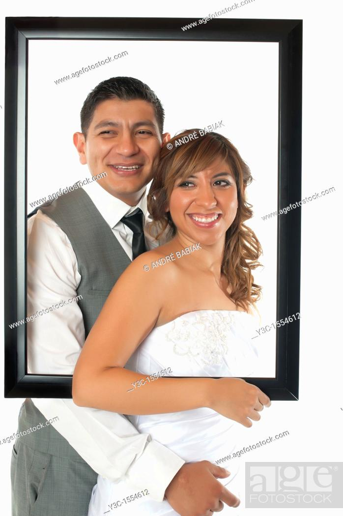 Stock Photo: Bride and Groom Newlyweds.