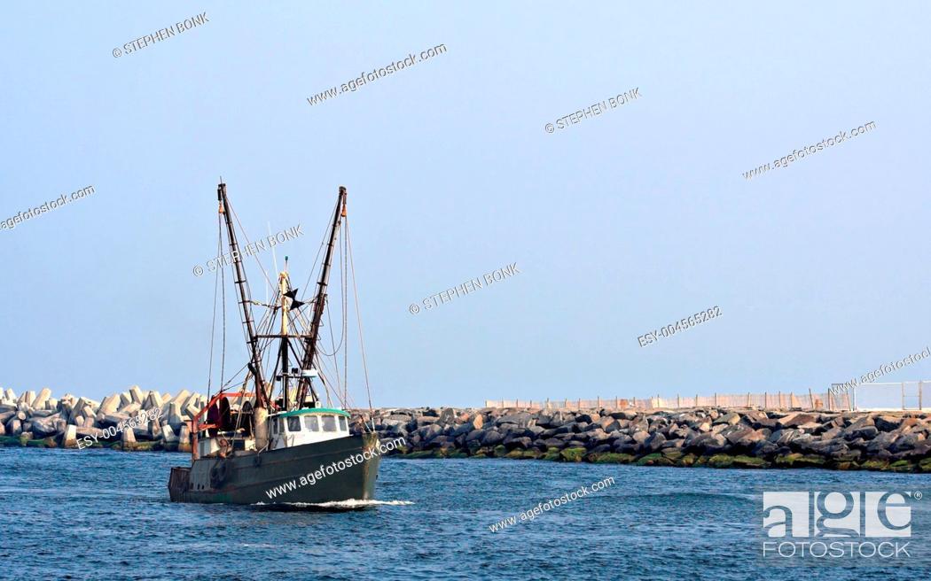 Stock Photo: Boat in Inlet.