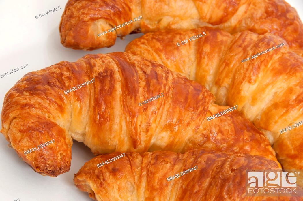 Stock Photo: Close up of fresh croissants.
