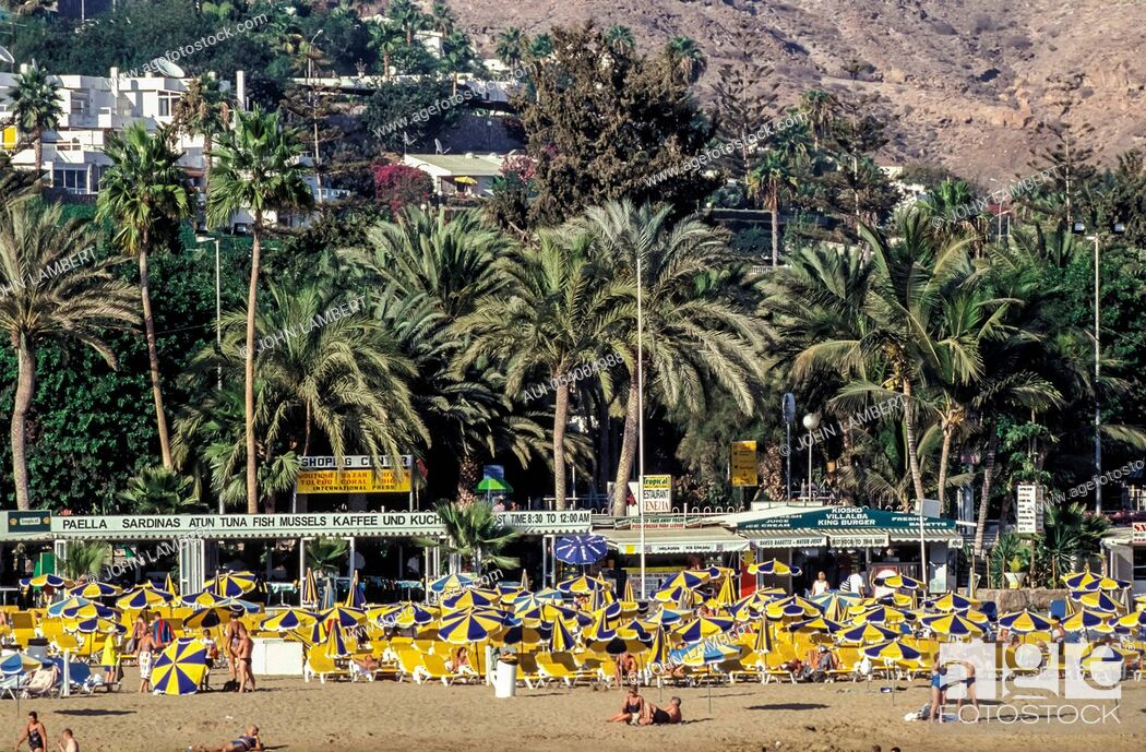 Stock Photo: spain - canary islands, gran canaria, puerto rico beach.
