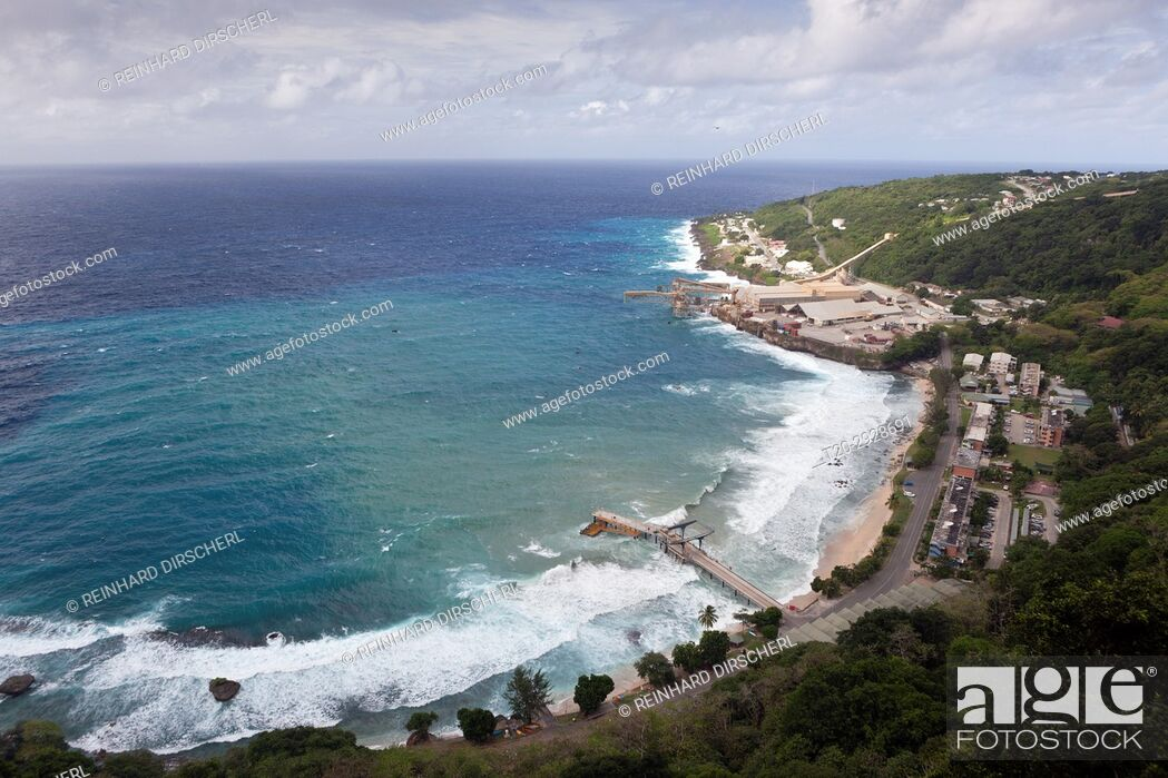 Christmas Island Australia.Over View Of Flying Fish Cove Christmas Island Australia