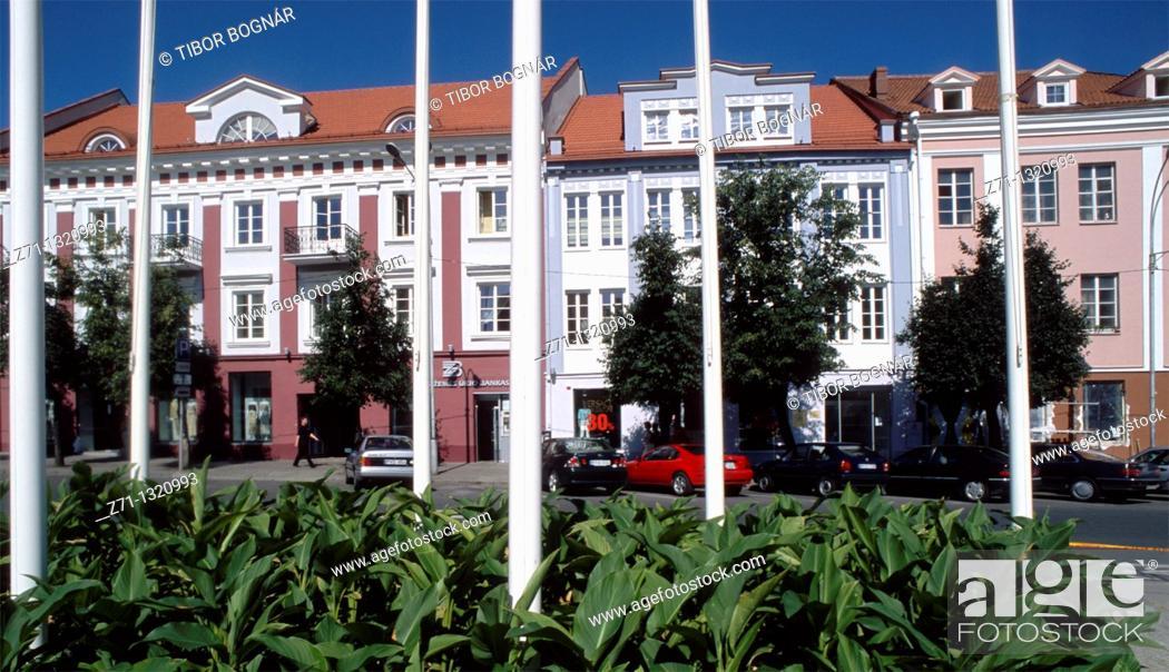 Stock Photo: Lithuania, Vilnius, street scene.