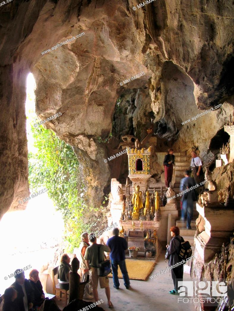 Stock Photo: temple Tham Thing, cave, Laos, Luang Prabang.