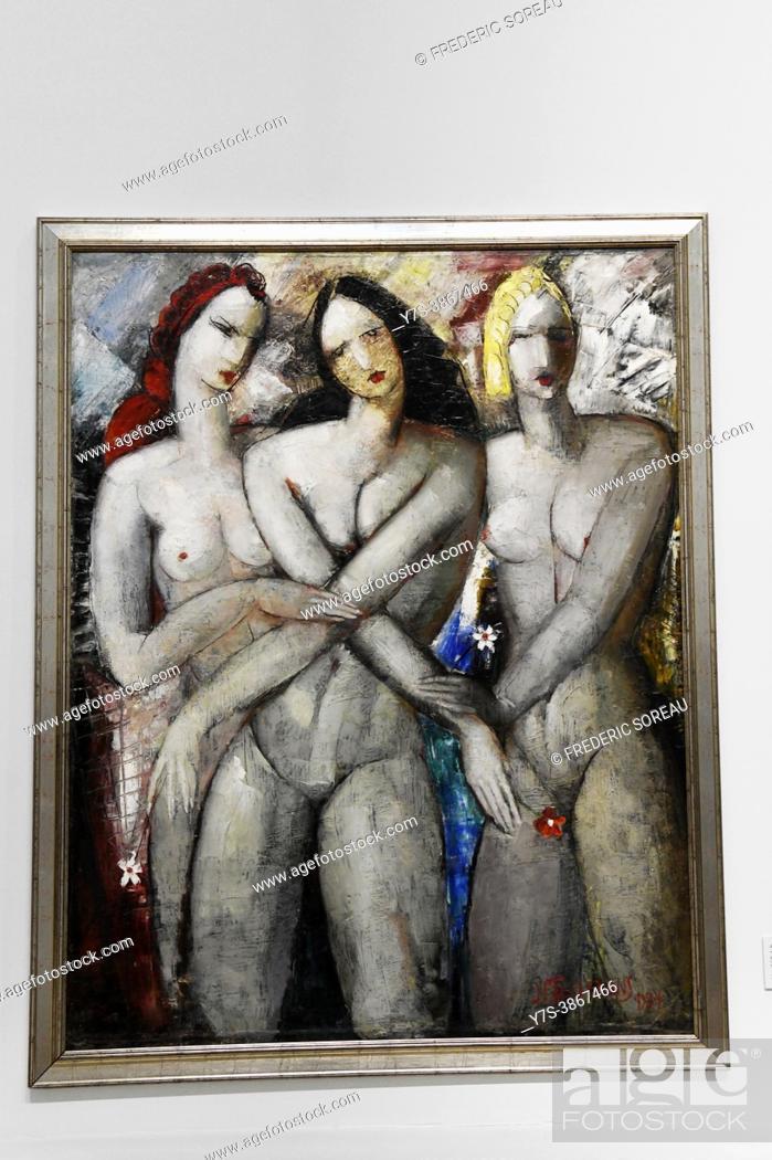Stock Photo: Divorced Wives, 1934, Janis Tidemanis, Latvian National Museum of Art, Riga, Latvia.