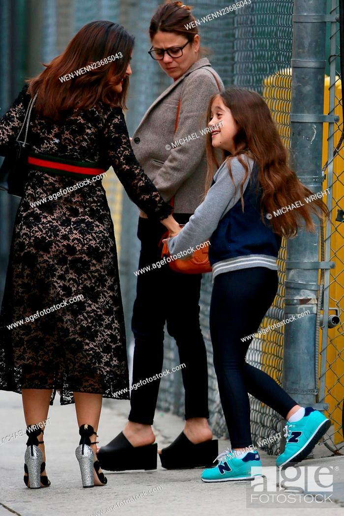 Salma Hayek seen leaving the ABC studios after 'Jimmy Kimmel