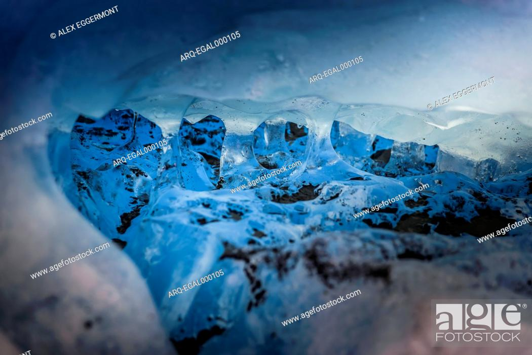 Stock Photo: Detailed view of glacier, Narsaq, Greenland.