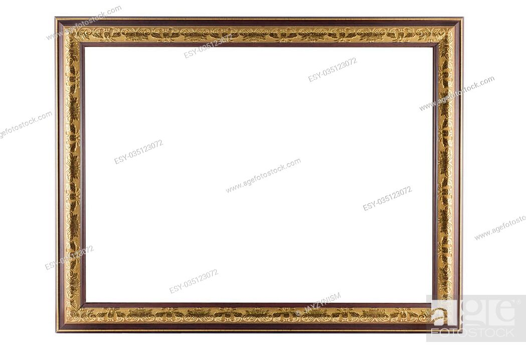 Imagen: Bronze and Gold Frame vintage isolated on white background.