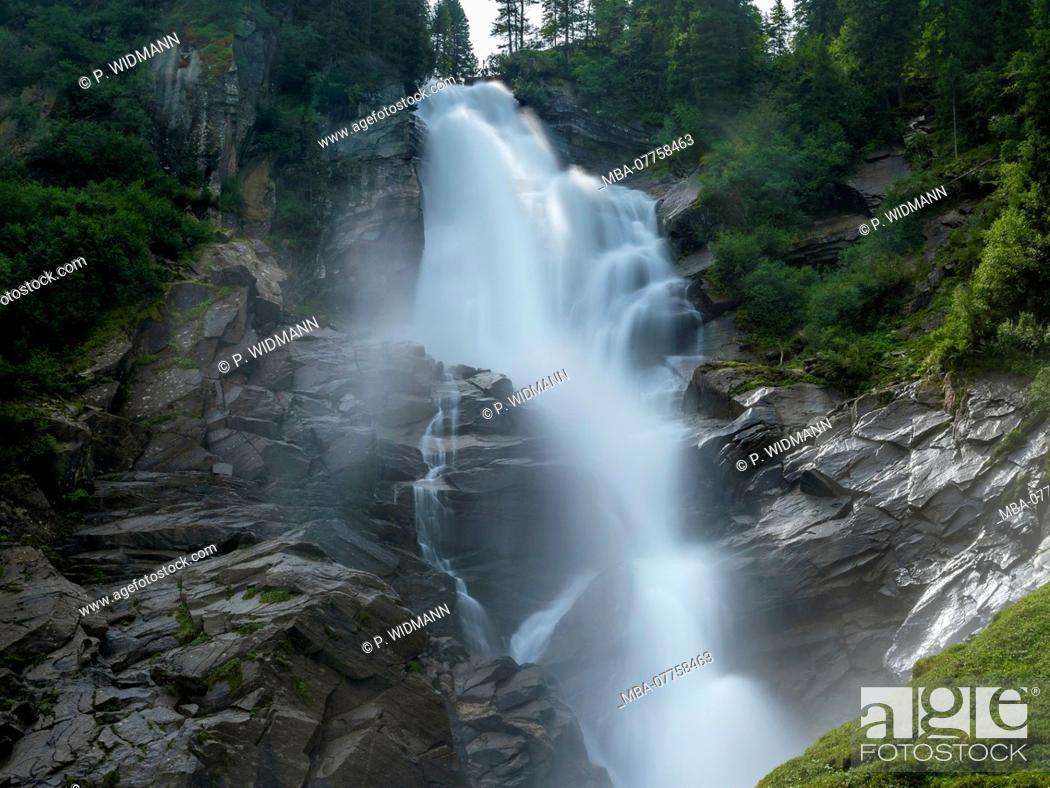 Stock Photo: Krimml Waterfalls, High Tauern National Park, Krimml, Pinzgau region, Salzburger Land region, Salzburg (state), Austria, Europe.