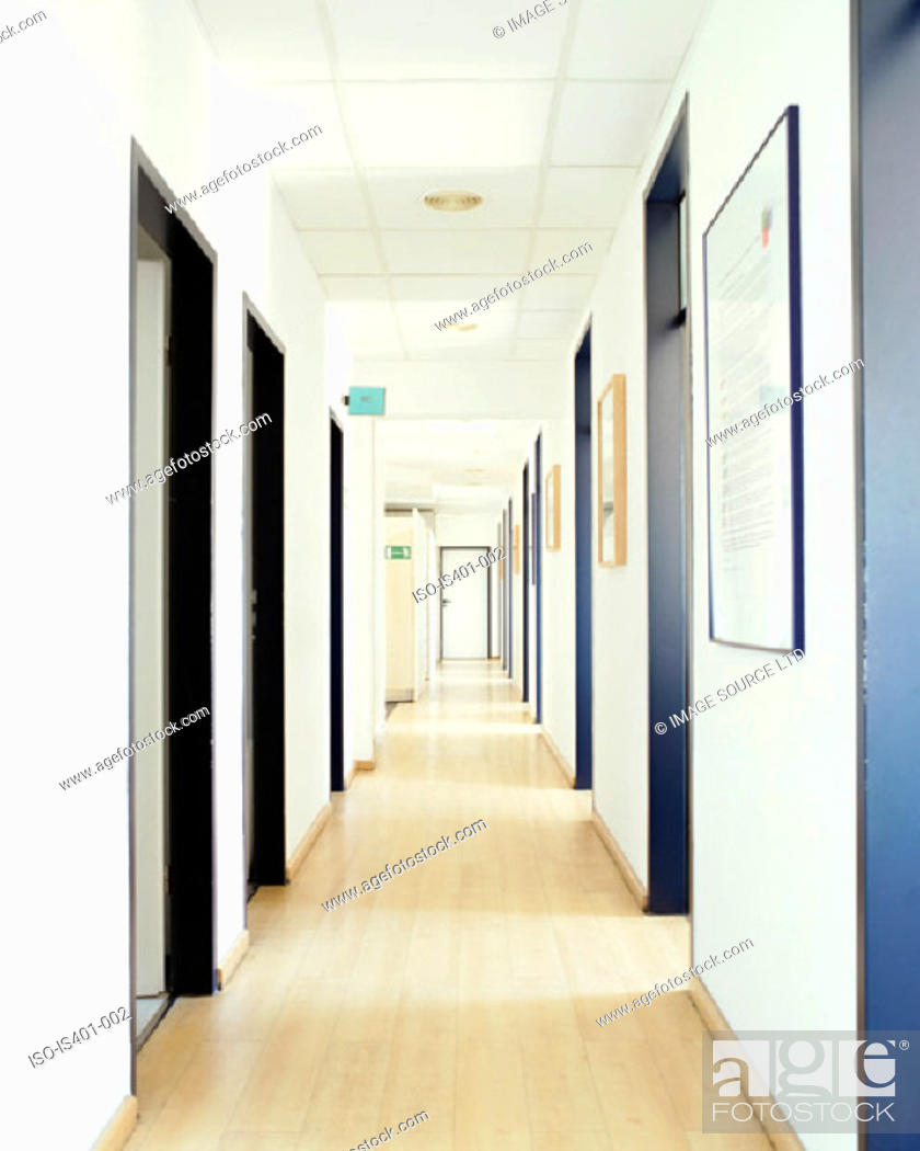 Stock Photo: Hospital corridor.