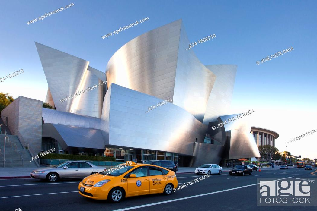 Stock Photo: Walt Disney Concert Hall by architect Frank O. Gehry, Los Angeles, California, USA.