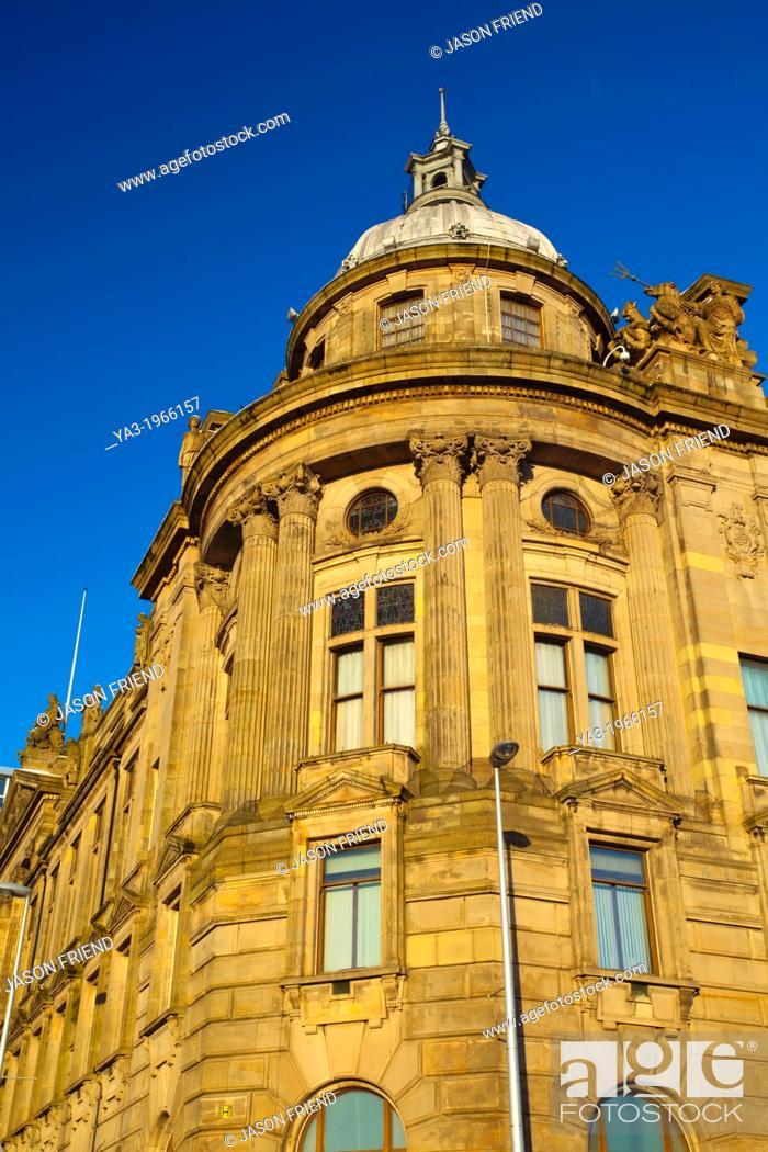 Stock Photo: Scotland, Glasgow, Glasgow City. Detail shot of ornate architecture in Glasgow City.