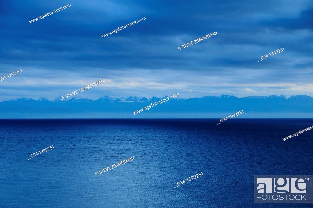 Stock Photo: San Juan Island view, Washington, USA.