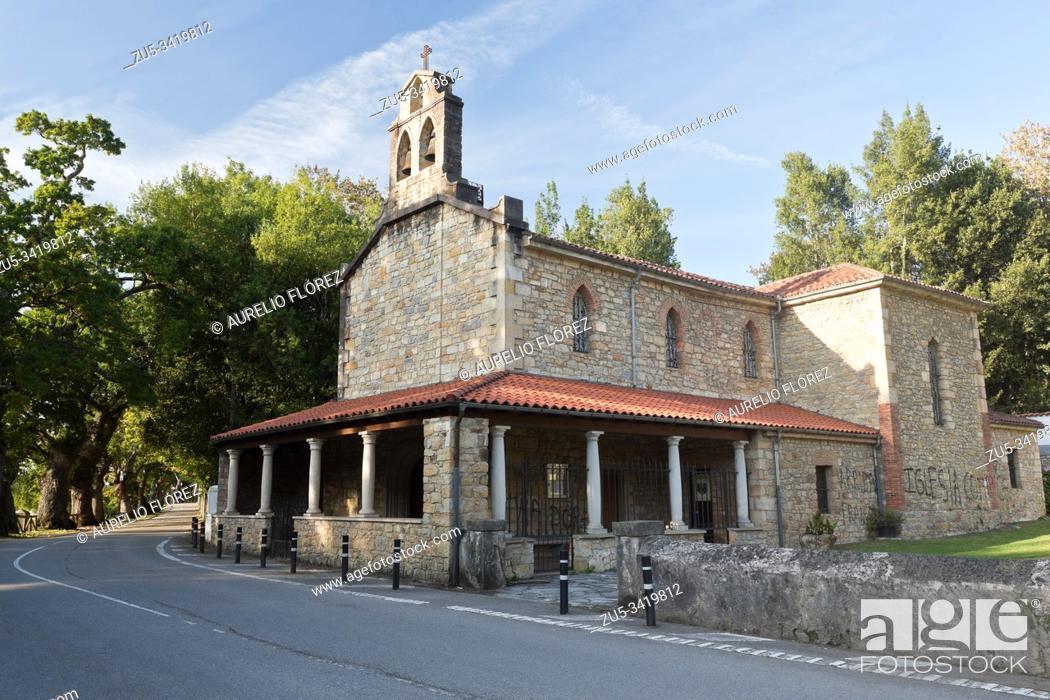 Photo de stock: The Church of San Salvador de Deva is a Catholic temple located in the parish of Deva, in the municipality of Gijón (Principality of Asturias, Spain).