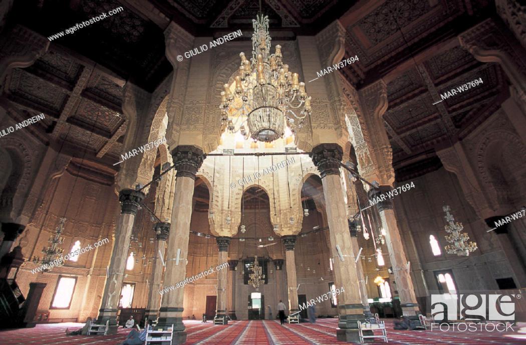 Stock Photo: egypt, alexandria, abu el abbas mosque.