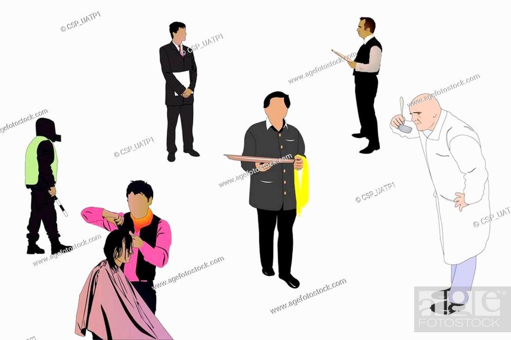 Vecteur de stock: specialists of different professions.