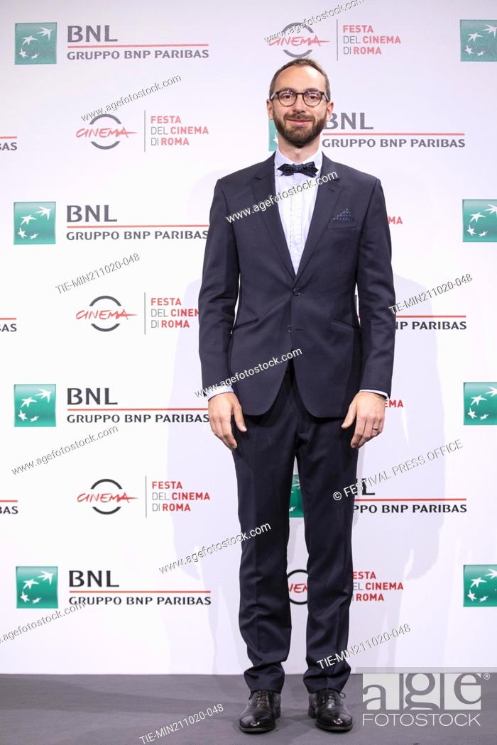 Stock Photo: Tomas Srovnal during the photocall of movie' Francesco' at the 15th Rome Film Festival, Rome, ITALY-21-10.-2020.